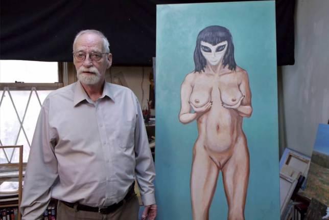 David Huggins, el pintor que afirma tener varios hijos engendrados por un extraterrestre