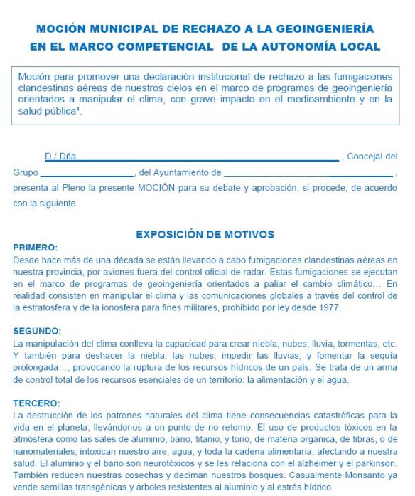 METEORÓLOGOS ESPAÑOLES DENUNCIAN ANTE LA UE QUE ESPAÑA ESTÁ SIENDO FUMIGADA POR AVIONES PARA CAMBIAR ELCLIMA