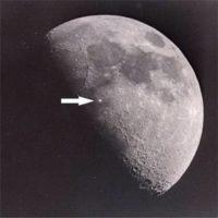 que son esas luces moviles de la luna que todos ven con telescopios basicos