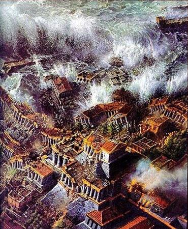 La Atlántida y el Gran Diluvio