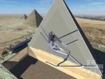 hallan dos cavidades en la gran piramide de keops