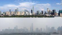 asi se vio el cielo en pekin tras dos semanas sin circular 2 millones de vehiculos