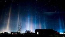 extranas luces en el cielo