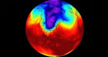 preocupante el vortice polar se esta desplazando