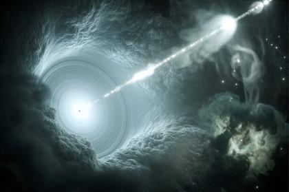 Hay estallidos cósmicos más veloces que la luz pero respetan a Einstein