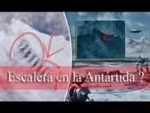 que nos ocultan imagenes satelitales revelan una escalera gigante en la antartida