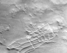 imagenes de satelite muestran unas antiguas ruinas artificiales en marte