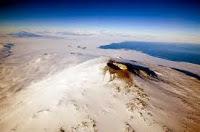 la ciudad antigua kayona bajo la superficie helada de la antartida
