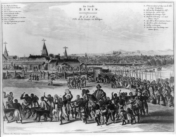 Ciudad de Benin en el siglo XVII / foto Dominio Público en Wikimedia