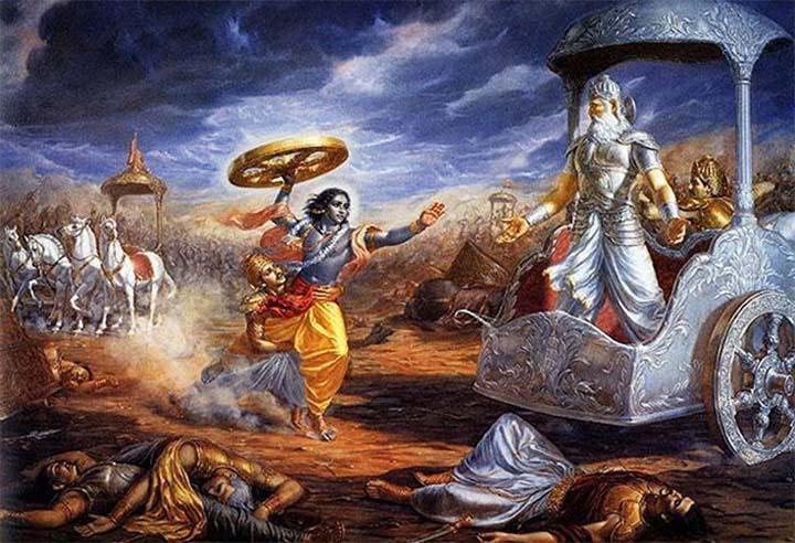 Batalla descrita en el Mahabharata