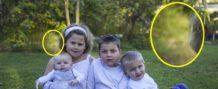madre australiana fotografia el espiritu de su bebe muerto protegiendo a su hermana gemela