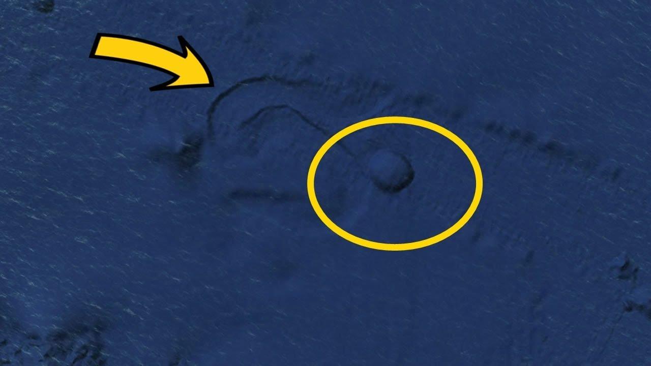 EXTRAÑO OBJETO CIRCULAR EN EL OCEANO PACIFICO