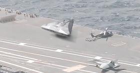 Ovnis triangulares filmados en un portaaviones estadounidense justo antes del huracán Irma