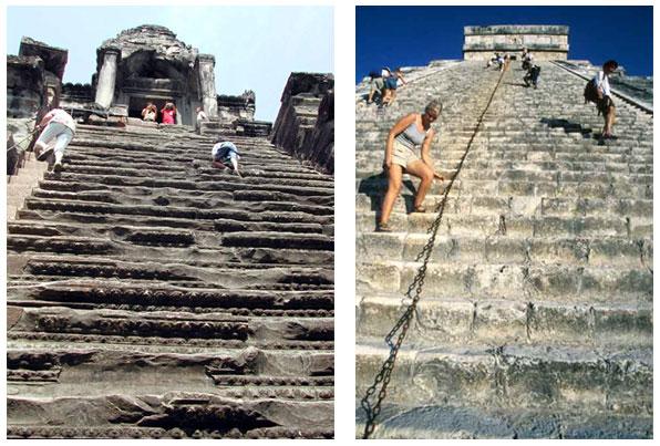 Distintas civilizaciones han construido templos similares en lados opuestos del mundo.