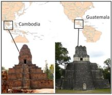 distintas civilizaciones han construido templos similares en lados opuestos del mundo