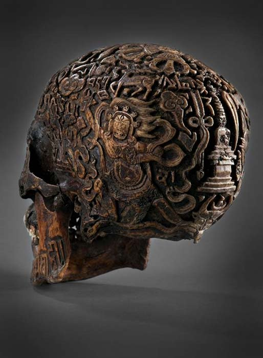 El misterio de la impresionante calavera tallada del Tíbet