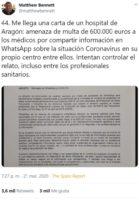 circular del ministerio de salud espanol reconocio que el nombre cientifico del agente patogeno es sars cov 2 es un derivado del sars