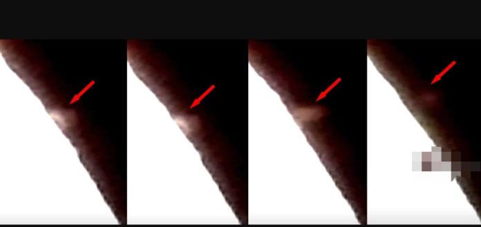 algo enorme es grabado despegando desde la luna video