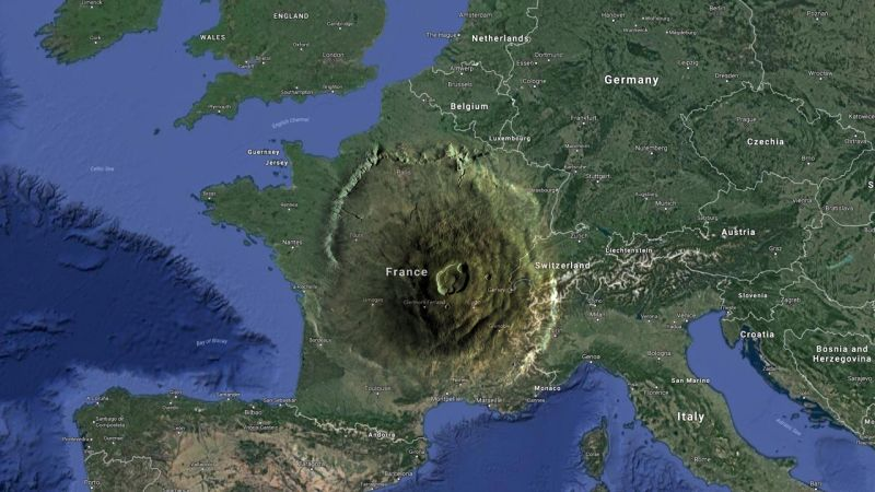 Cómo de grande es el volcán más grande del sistema solar
