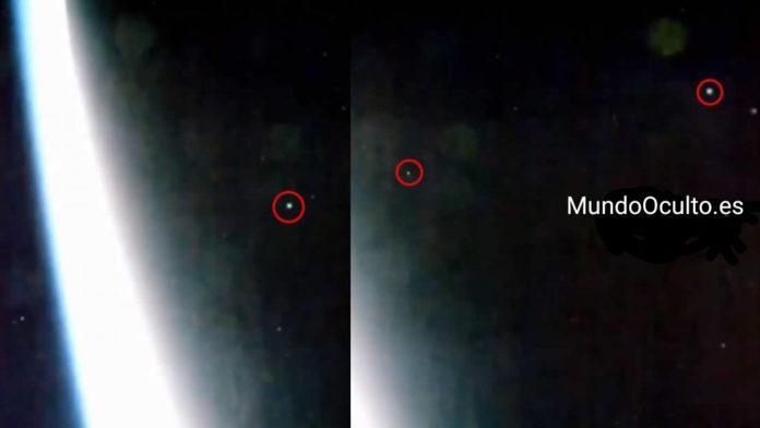 estacion espacial captura una evacuacion masiva de ovnis desde la tierra