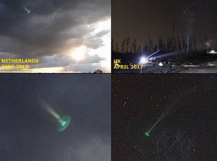 Misterioso OVNI verde resplandeciente aparece sobre Exeter, Reino Unido
