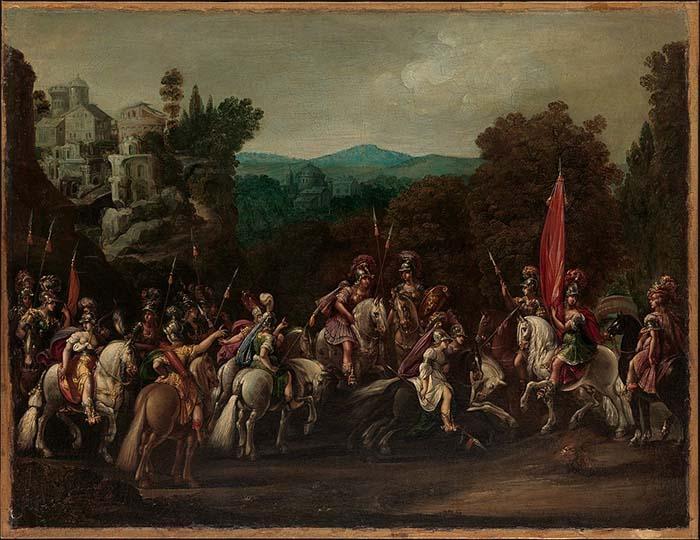 Partida de las Amazonas, pintura de Claude Deruet, 1620