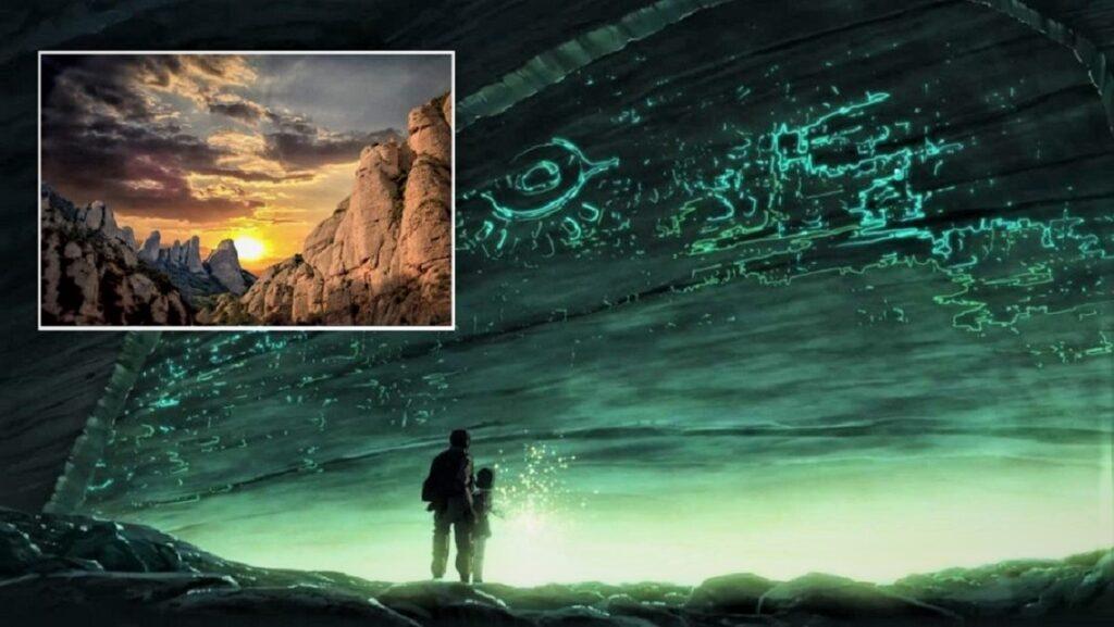 OVNI y civilizaciónUFO y civilización perdidos dentro de la montaña de Montserrat perdidos dentro de la montaña de Montserrat