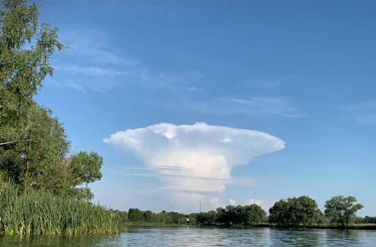 un misterioso hongo nuclear cerca de chernobil provoca el panico en ucrania