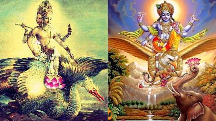 vahanas vehiculos animales sagrados de los dioses hindues y su diferencia con los vimanas