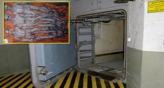 contenedores subterraneos utilizados como almacenamiento de extraterrestres muertos