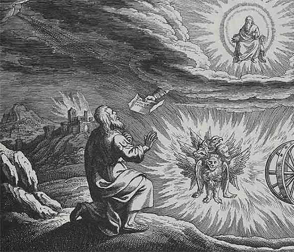 el carro de fuego de ezequiel la nave celestial de yahve con ruedas metalicas