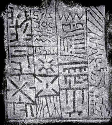escritura sumeria en bolivia la magnifica inscripcion del monumento de pokotia
