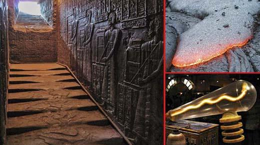 las escaleras de granito derretido en el templo de hathor egipto