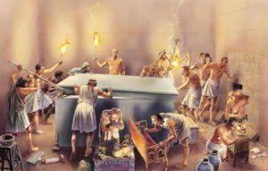 los invasores de las piramides mueren muertes misteriosas mientras destrozan la paz de los faraones