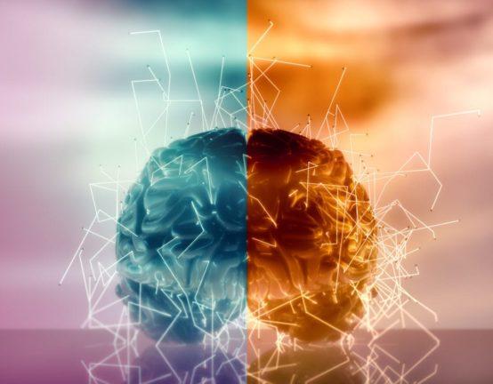 Imagen conceptual de la actividad del cerebro humano