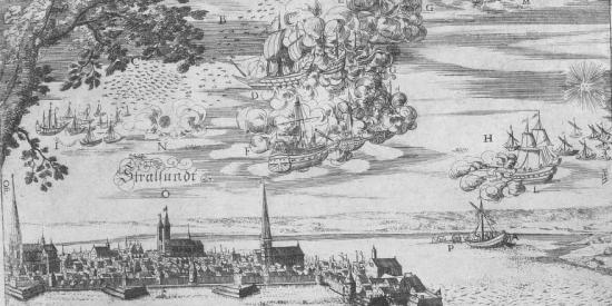 batalla de los barcos voladores en 1665