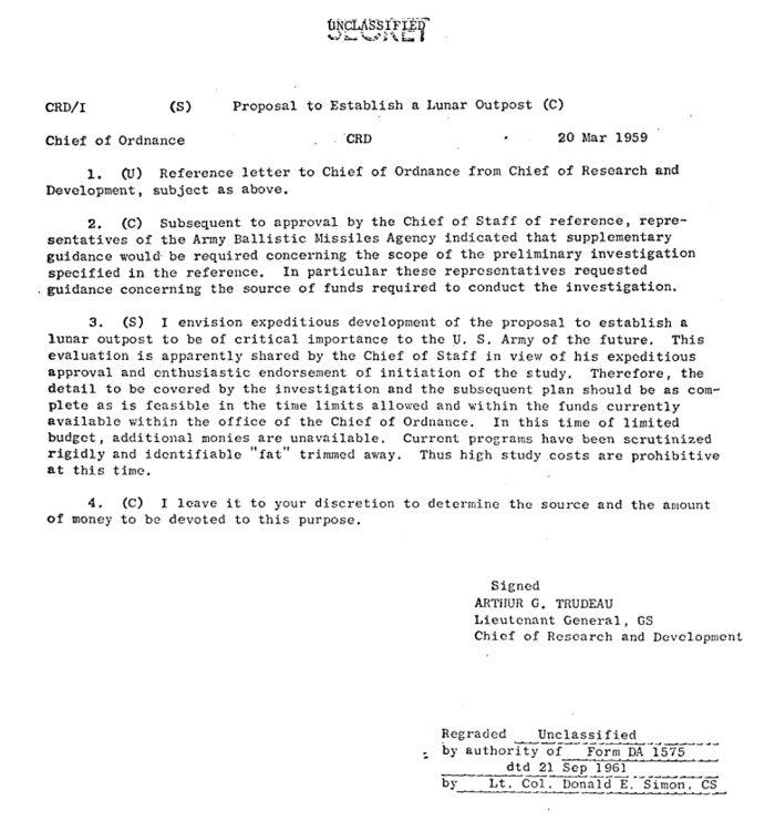 Documentos desclasificados revelan plan de edificar una Base Militar en la Luna: Plan Horizon
