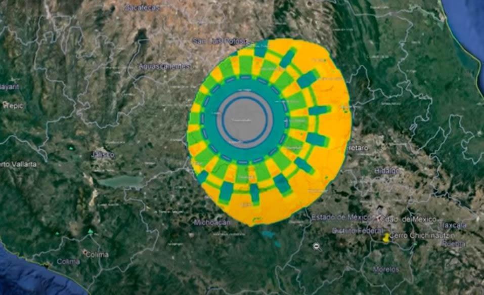 enorme anomalia de 300 km de diametro es detectada sobre mexico video