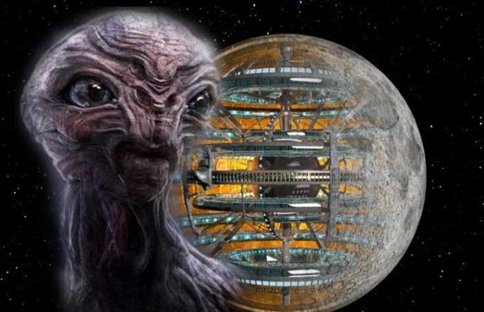 la luna podria ser una base reptiliana de cuarta dimension