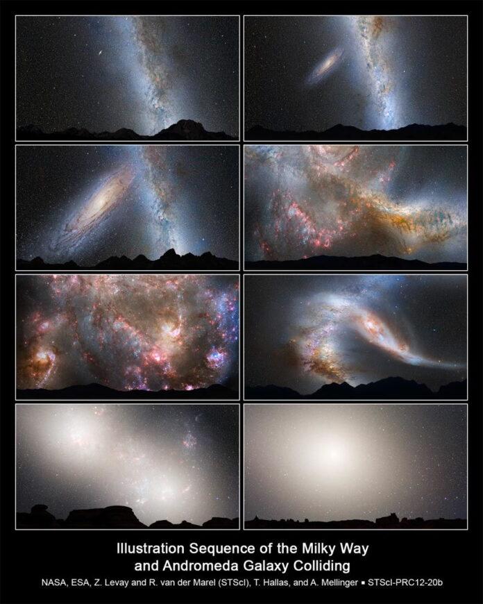 la via lactea y la galaxia andromeda ya estan fusionandose