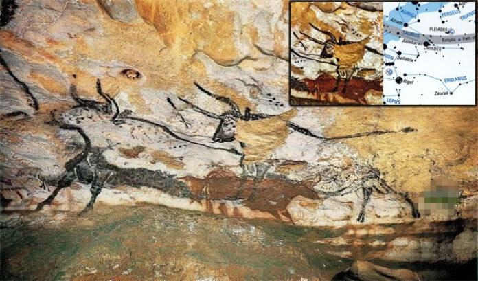 las pinturas rupestres de esta cueva reflejan grupos de estrellas dibujadas hace 17 mil anos