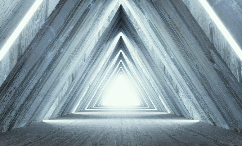 Representación de un artista de la luz piramidal. Shutterstock.