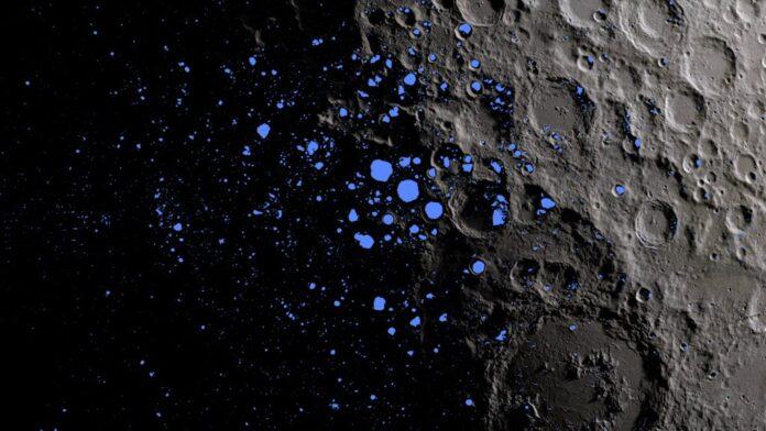 confirman la presencia de agua congelada en la luna en grandes cantidades