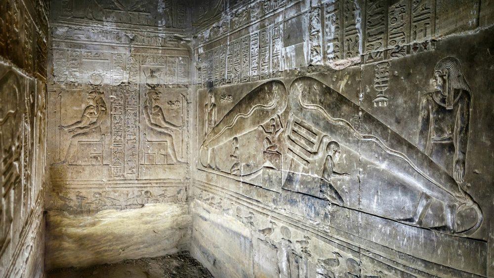 Los relieves del templo de Hathor cuyas representaciones han suscitado tantas preguntas. Crédito: Shutterstock