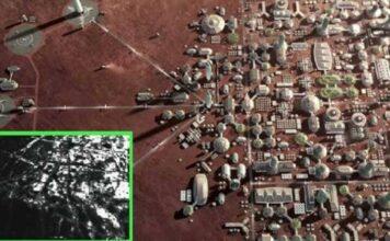 imagenes de satelite muestran una base humana en la superficie de marte
