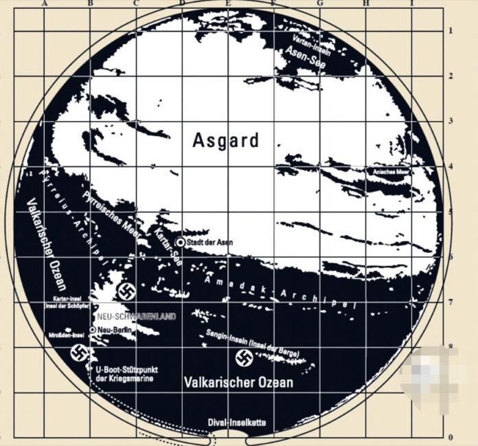 mapa secreto de la antartida revela la ruta para llegar a la tierra hueca