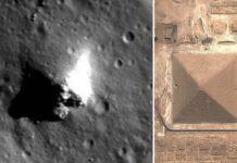 evidencia extraterrestre imagenes de la nasa muestran con toda claridad una piramide en la luna