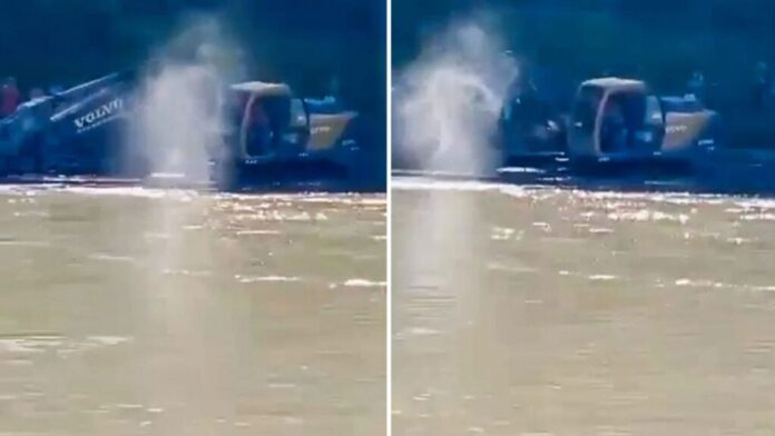 el fantasma de un difunto caminaba sobre el agua un testigo lo filmo