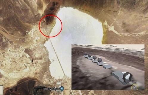 area 51 stargate descubierto cerca del lago groom imagenes capturadas por google maps
