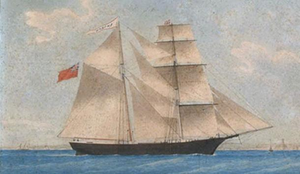 Una pintura de Mary Celeste como Amazon en 1861. (Dominio público)